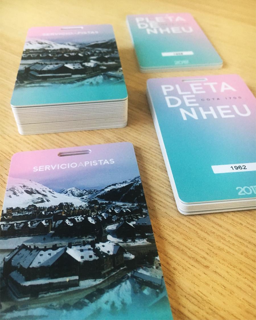 Tarjetas para control y acceso de forfait de una estación de esquí