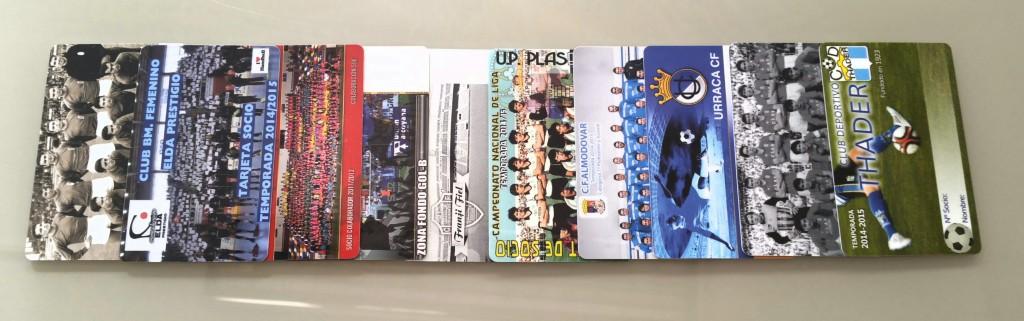 carnets para socios de clubs y peñas de fútbol