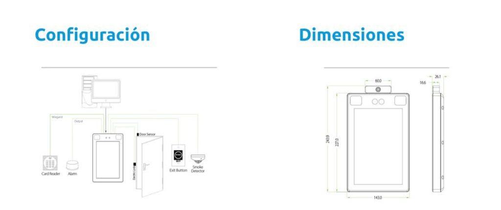 Configuración y dimensiones del sistema Iglo-Templus