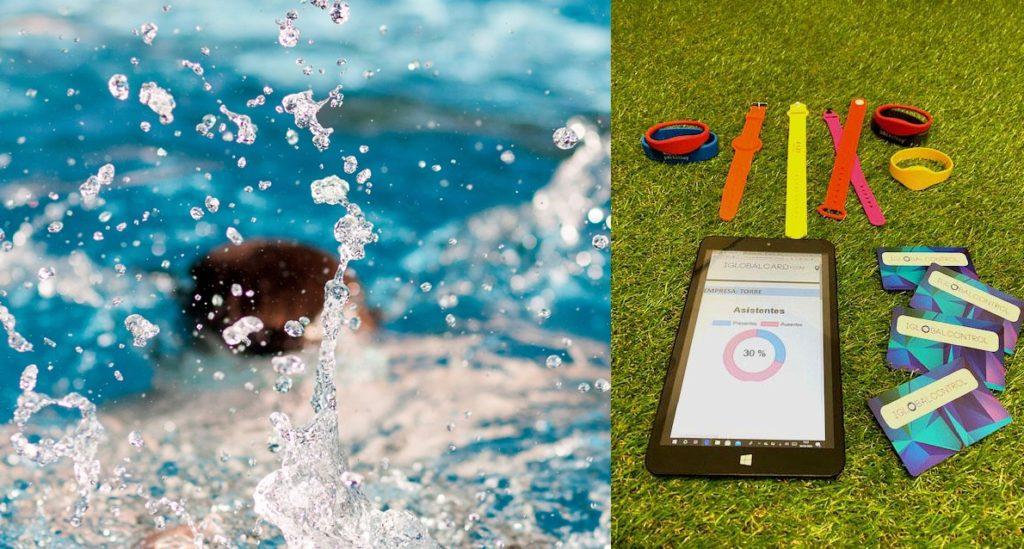 Pulseras y tarjetas de control de acceso a piscinas