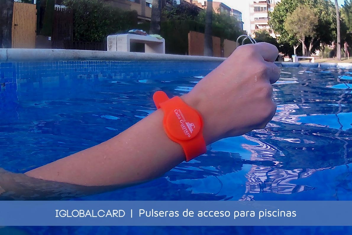 Pulseras de silicona para control de acceso a piscinas