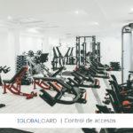 Torno de control de acceso a gimnasio