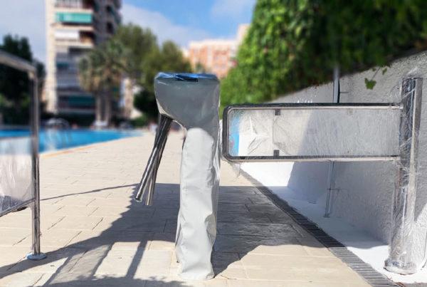 Control de acceso a piscina privada