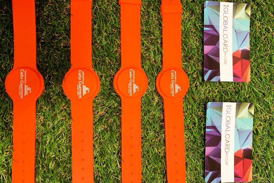 pulseras RFID de acceso a piscinas