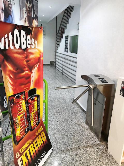 Torno para control de acceso en gimnasio de Elda - Alicante