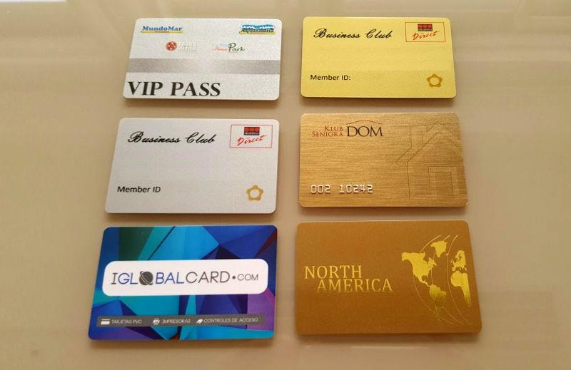 Ejemplos de tarjetas personalizadas de fidelización