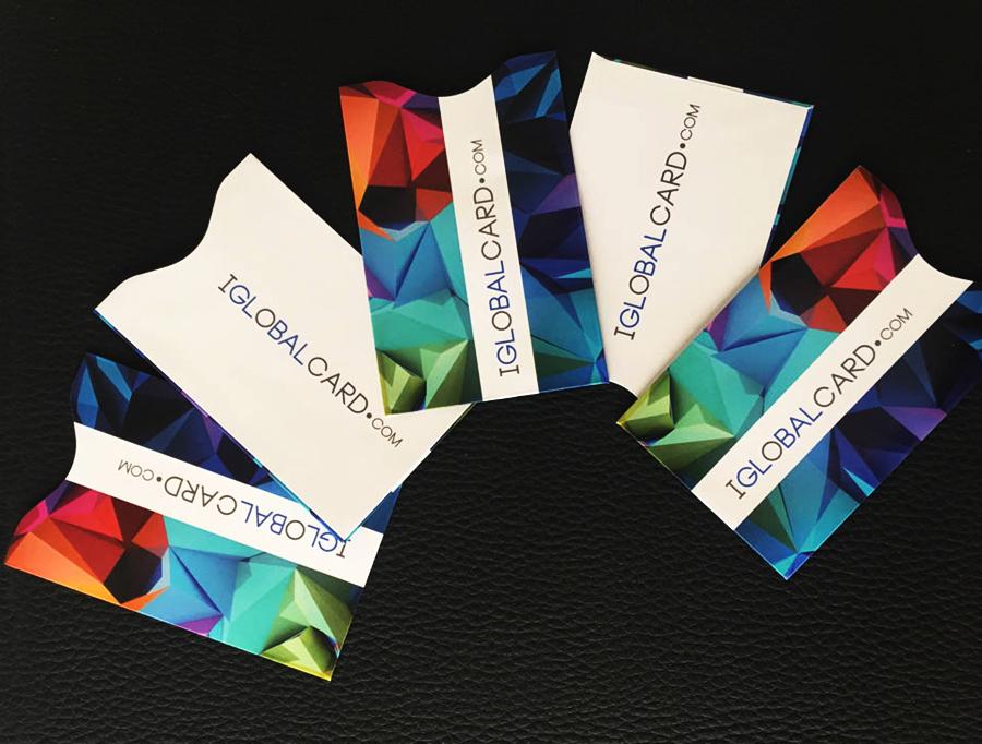 Fundas protectoras de tarjetas con diseños personalizados