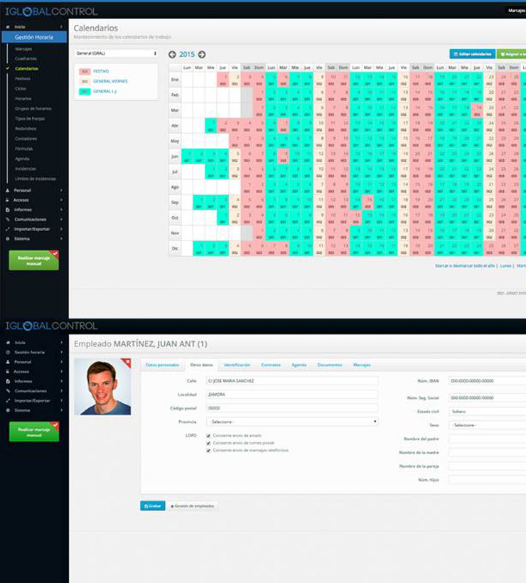 Iglobalcontrol - software para el control de horarios y horas extra de trabajadores