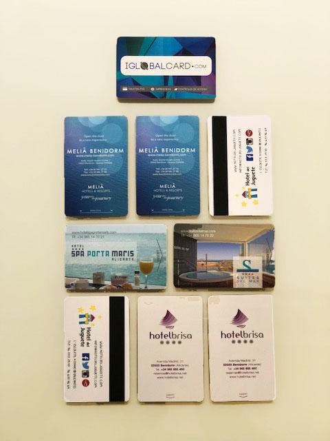 Llaves de hotel con tarjetas de PVC